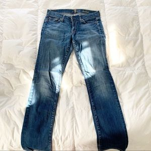 7 FOR ALL MANKIND BOOTCUT JEANS DARK BLUE